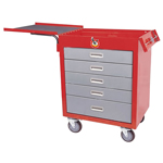 5 drawer car tool trolley /garage tool trolley