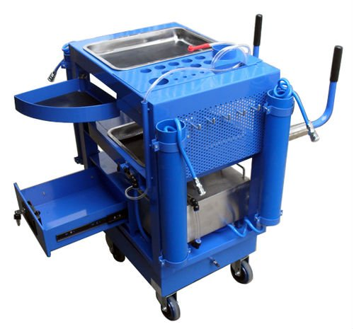export and import Fast Repair Tool Trolley With dynamic braking oil extracting mouth