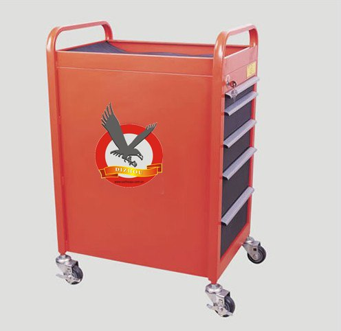 supply high quality 7 auto tool trolley ,garage tool trolley for repair tool
