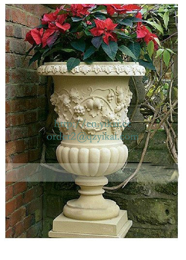outdoor stone granite flowerpot