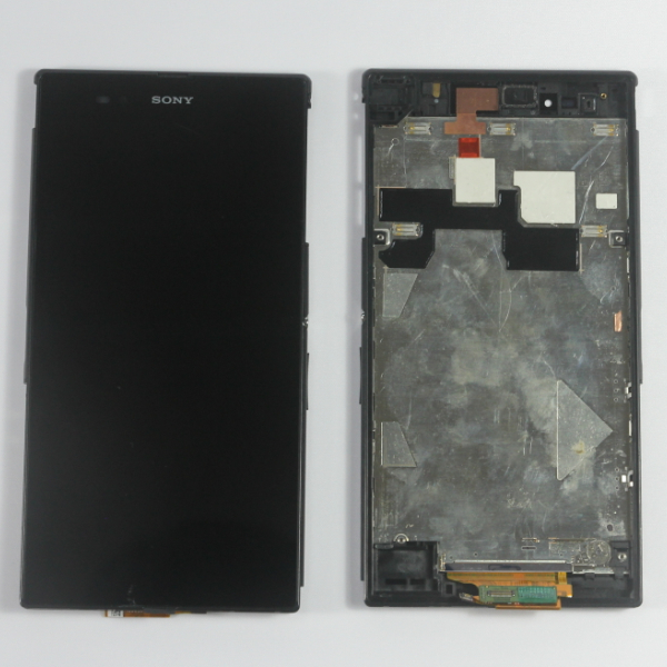 For Sony Xperia Z Ultra XL39h LCD Display and Digitizer W/front Bezel Well assembly