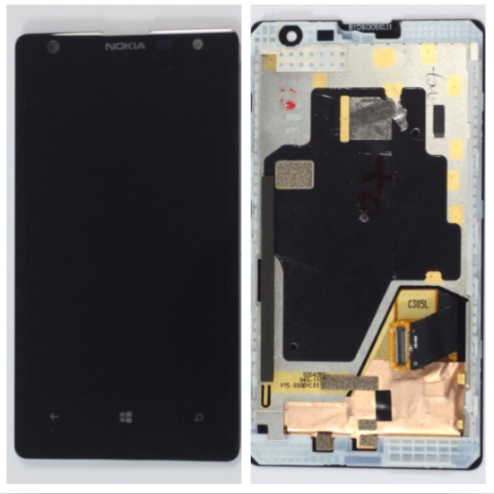 For Nokia Lumia 1020 New OEM LCD Display+Touch+Front Well Assembly