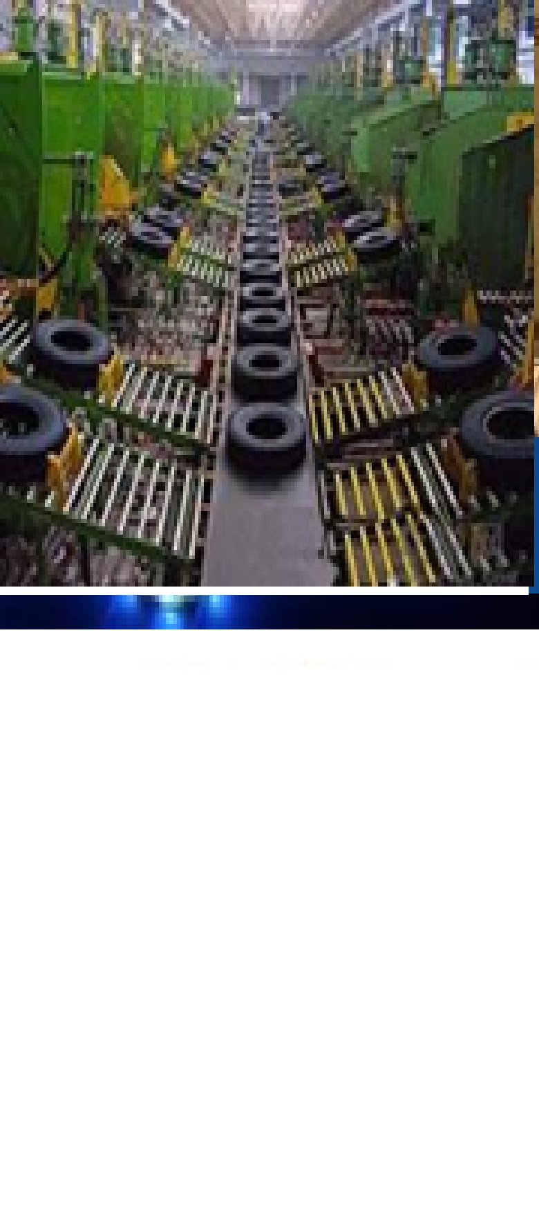 Rubber tire retreading production line