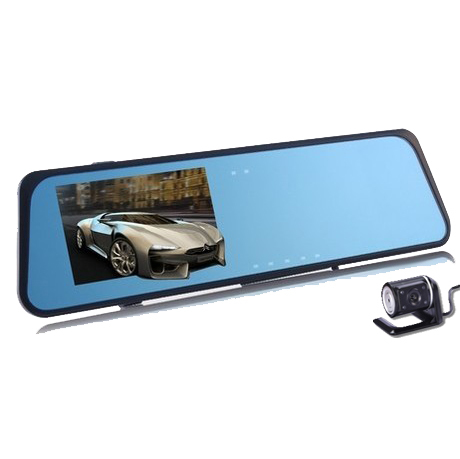 New Blue Mirror Dual camera Rearview DVR