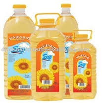 refined corn oil and sunflower oil
