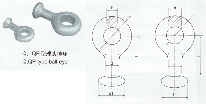 power line hardware forged oval eye nut