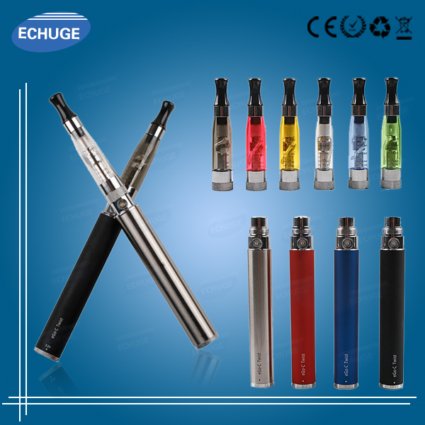 unique electronic cigarette USB charger ego c twist battery with CE5+ atomize