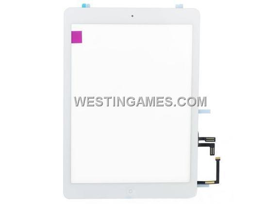 Original New Touch Screen Glass Digitizer Assembly with Home Button for iPad Air - White (A)