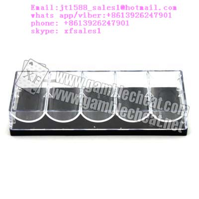 small transparent chip tray camera for poker analyzer