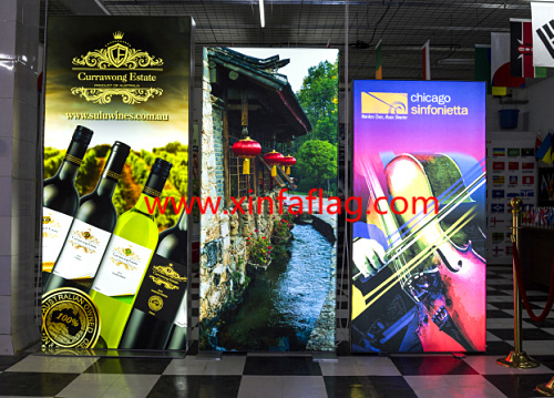 Advertising LED Display Backlit textile Banner Prints