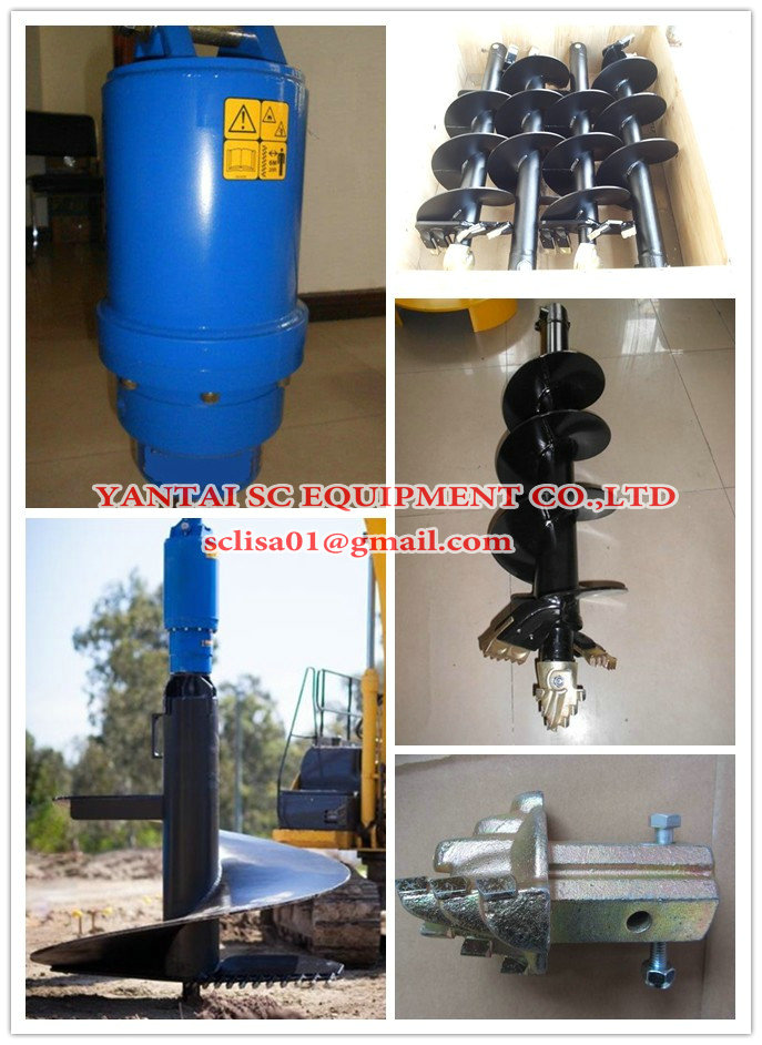 Earth drill, earth auger for excavator, backhoe, skid steer loader