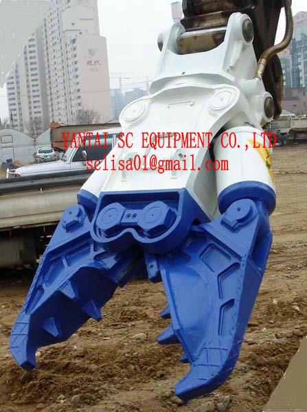 Hydraulic Crusher, Demolition & Recycling. Concrete Demoltion. Steel Cutting