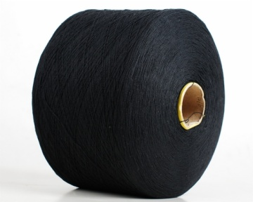 Nm10 black oe recycled cotton glove yarn 011