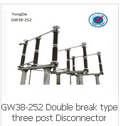 GW38-252 Double break type three post Disconnector