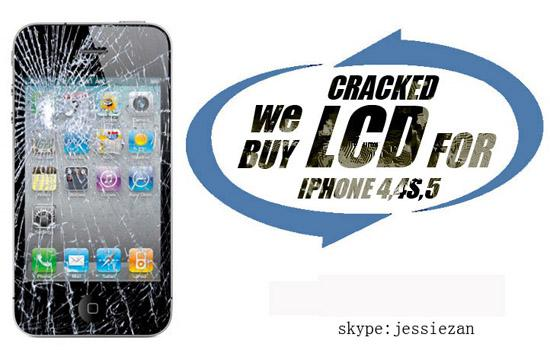 recycle broken lcd screen for iphone  complete original