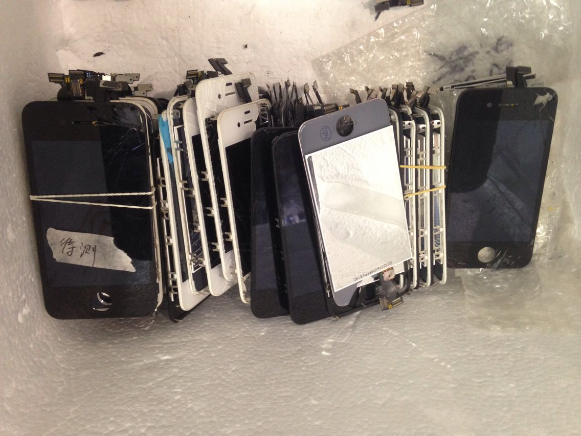 Recycle Broken Original iphone4/4s Screens