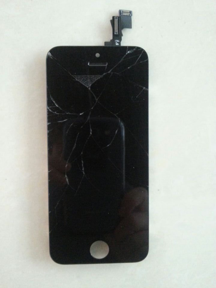 recycle broken lcd screen for iphone 5s complete original
