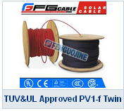 TUV UL Approved PV1-f Twin Solar Cable (red And Black)