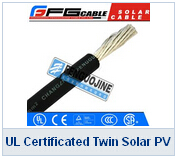 UL Certificated Twin Solar PV Cable 1000v