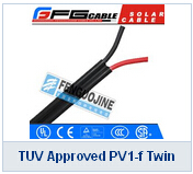 TUV Approved PV1-f Twin Solar Cable