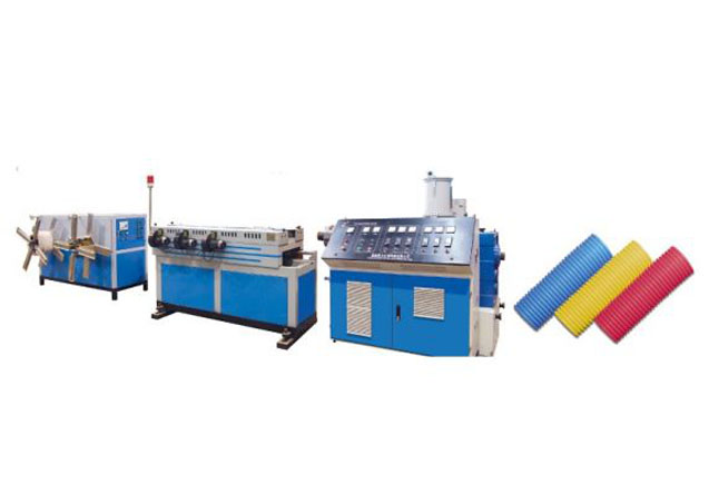 PP/PE/PVC Single Wall Corrugated Pipe Machine