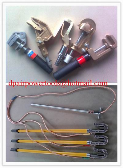 Short circuiting rod&H.T Discharge Rod,portable earth rod set