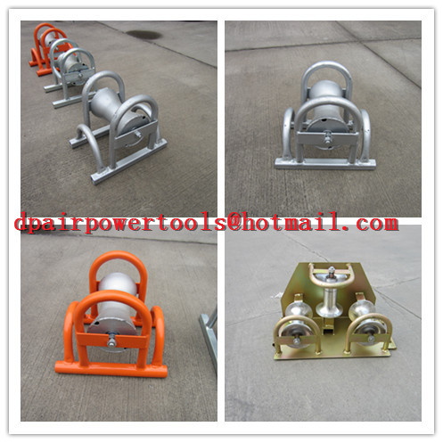 Cable roller, galvanized,Cable roller with ground plate,Cable Guides rollers
