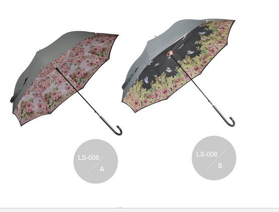 Lady fashion straight umbrella LS-006
