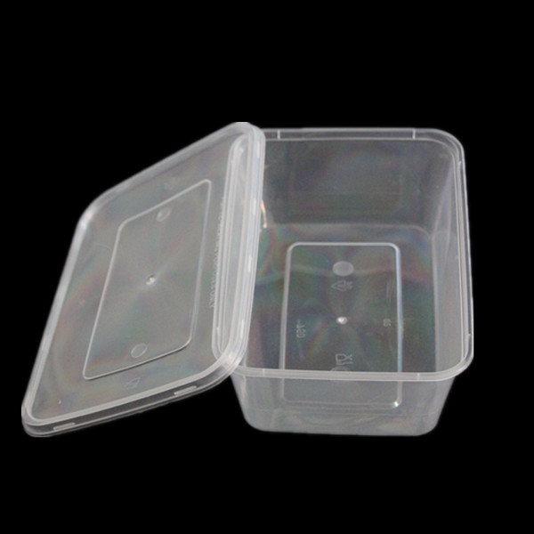 Clear Microwave Safe Plastic Storage Box (800ml)