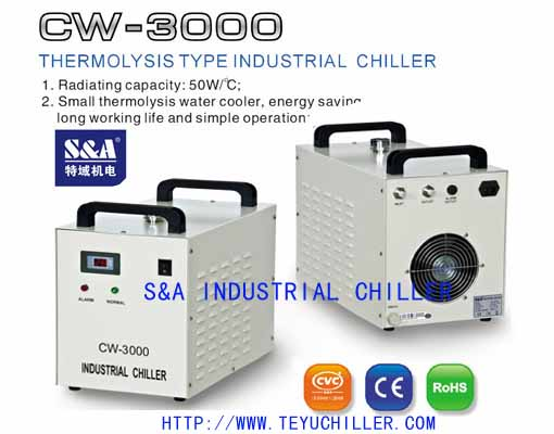 80watt co2 laser cutter water chiller from China