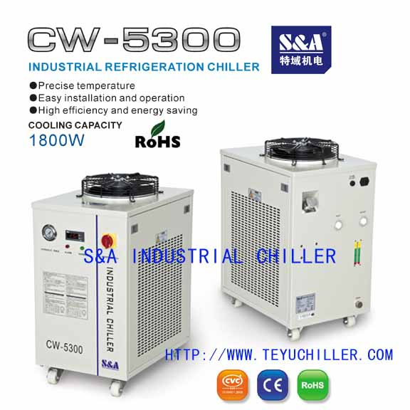 Refrigeration air and water cooled industrial chillers