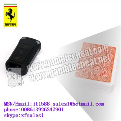 Ferrari car key IR camera for poker analyzer with marked cards