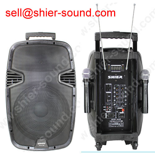 portable PA system with woofer inside AK12-202