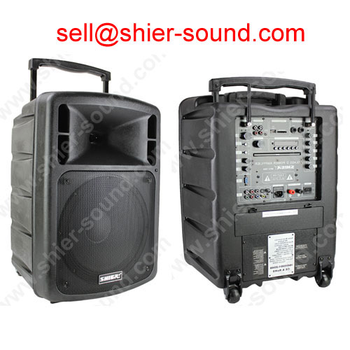 portable PA sound system with DVD/USB/SD/UHF/FM AK12-209A