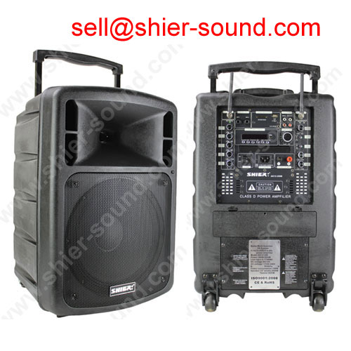 Monitor Speaker PA System with woofer and amplifier inside AK12-209B