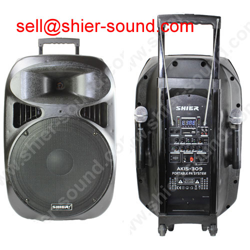 PA system wireless speaker with rechargable battery AK15-309
