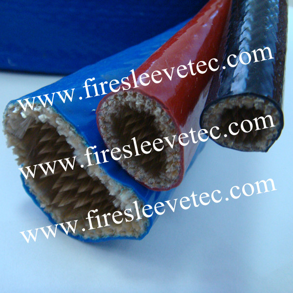 Silicone fiberglass fire proof sleeve