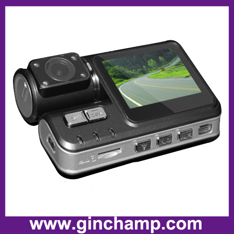 720P infrared dual camera vehicle recorder