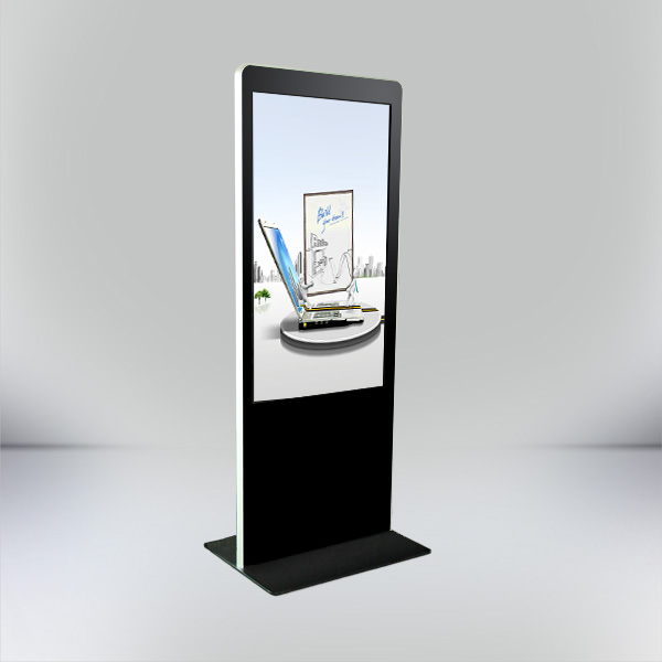 55 inch SAMSUNG / LG Floor Standing LED Advertising Media Player / Digital Signage Advertising Kiosk
