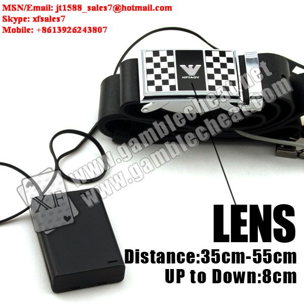 Strap camera lens for poker analyzer (double lenses)