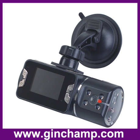 5.0mega pixels infrared dual camera car dvr recorder