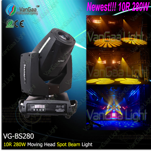 New higher brightness beam spot 280W 10R moving head light