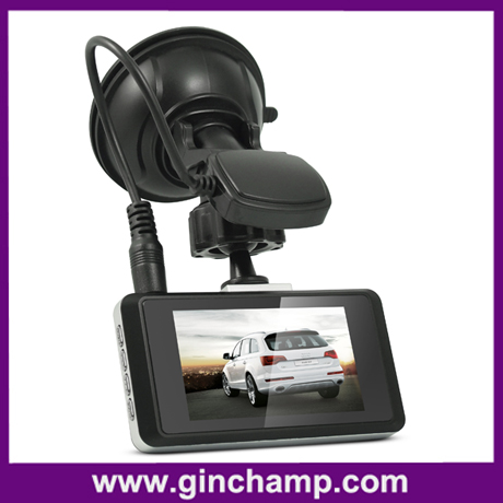 720P H.264 gps tracking infrared car dvr recorder/vehicle video camera