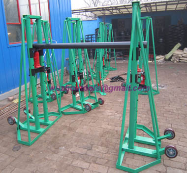 Roll On Drum Stands,Hydraulic Reel Stands,with trapezoidal structure