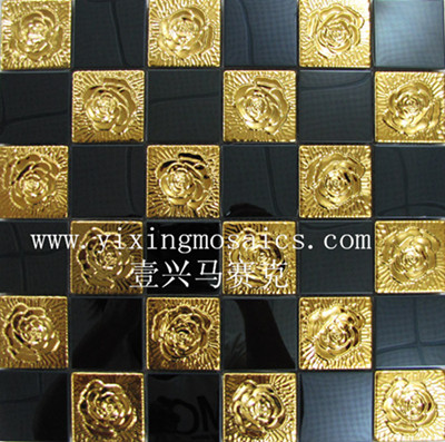 elegent sytle metla mosaic tiles for wall decoration suite for hotel ,bar, shop ec.