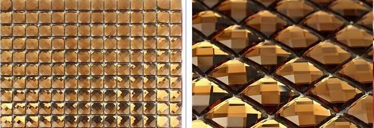 diamond glass mosaic