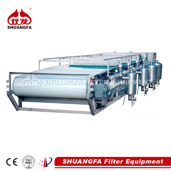 SF vacuum belt filter for sludge dewatering, better filteration effect