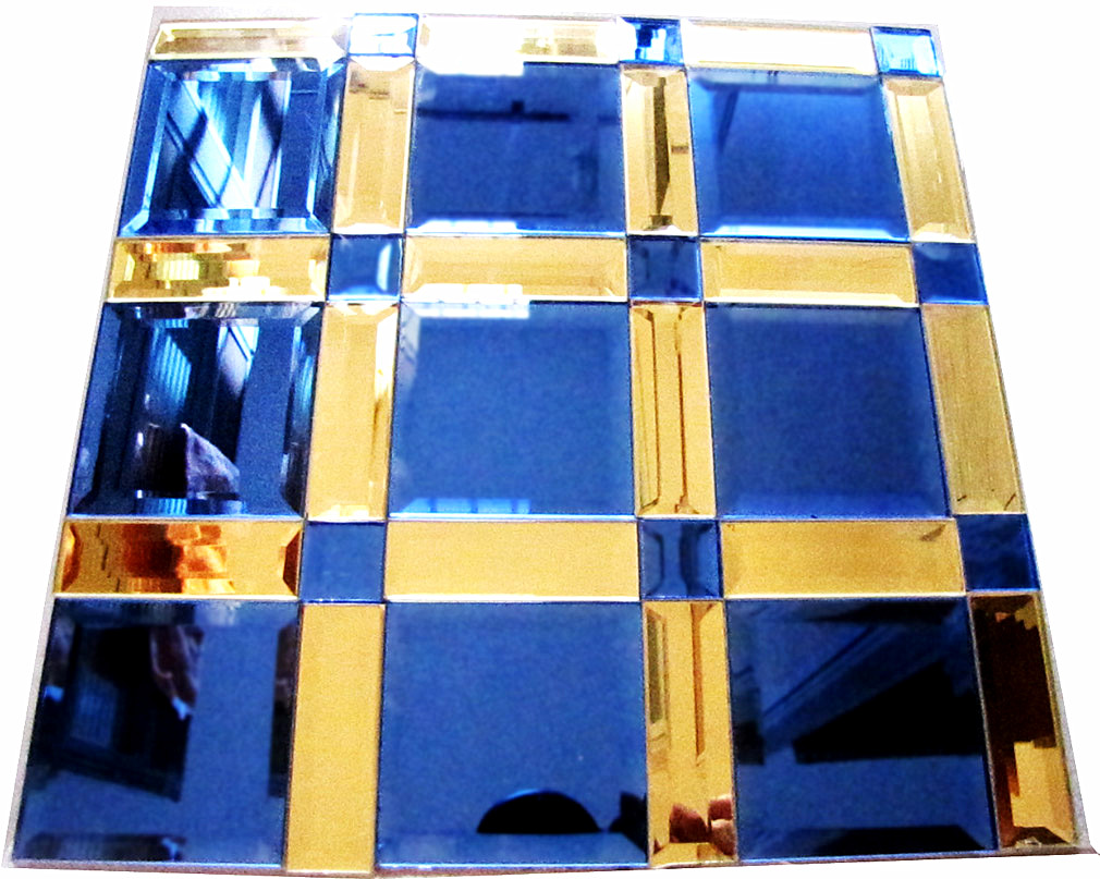 diamond beveled mirror glass mosaic tile decorate the wall for bar,shope