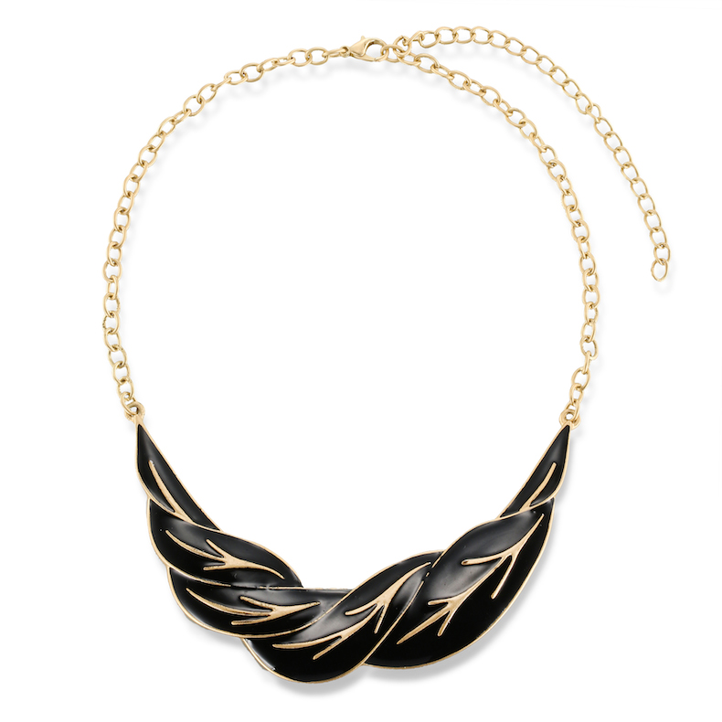 New Fashion Women\\\'s Fashion Jewelry colorful leaves necklace alloy resin