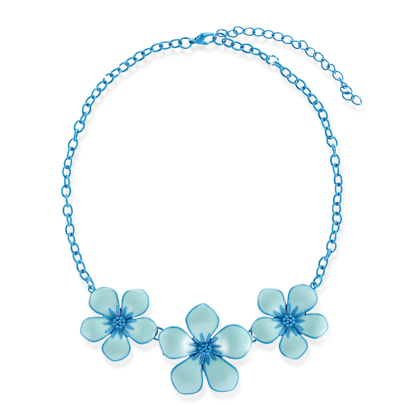 New fashion women jewelry flower pendant necklace